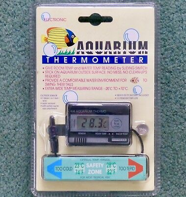 Lcd Digital  Aquarium Water Tank Thermometer & Room Extra Wide Range Thermometer