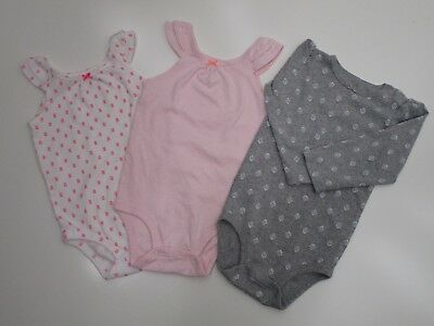Lot of 3 Baby Girl Onsies 24 Months In Fair Condition