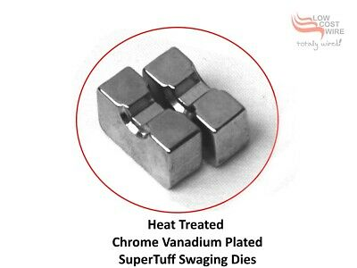 Hardened Steel Dies (2) to suit Hydraulic Swaging Tool - for stainless steel