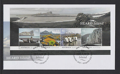 Australia 2017 : Heard Island - First Day Cover with Minisheet, Mint Condition