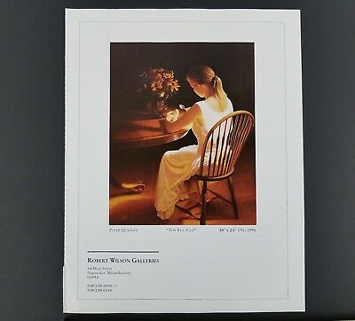 """1996 Peter Quidley """"The Egg Cup"""" Art Gallery Print Ad"""