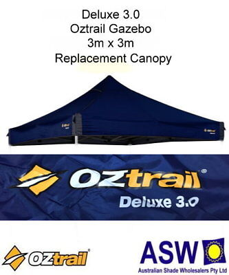 3m x 3m BLUE DELUXE 3.0 Replacement GAZEBO CANOPY Oztrail Reinforced Roof