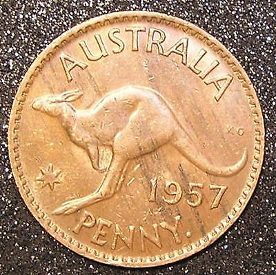 1-Coin from Australia.  1-Penny.  1957.