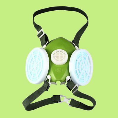 AU Dual Respirator Gas Mask Anti-Dust Twin Chemical Spray Paint Safety X#
