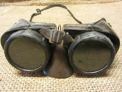 Vintage Tinted Welding or Military Goggles > Antique Steampunk Glasses 9775