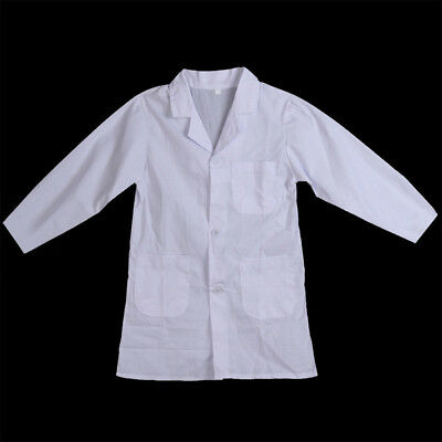 Kids Child White Lab Coat Doctor Scientist School Costume Fancy Performance