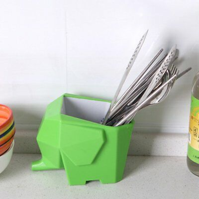 Unique Elephant Design Cutlery Drainer Multi-function Storage Box For Family WJ