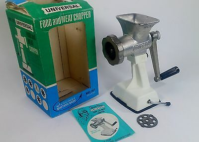 Vintage Universal Food and Meat Chopper DeLuxe Model 400P Suction Base Cast Iron