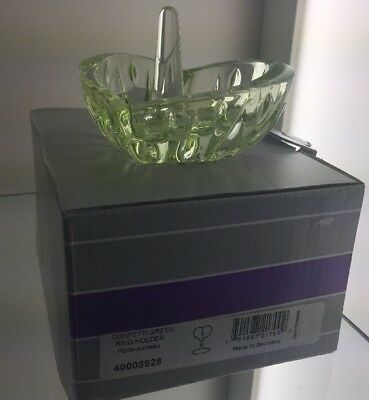 Marquis by WATERFORD Confetti GREEN RING HOLDER Made In Germany NIB.
