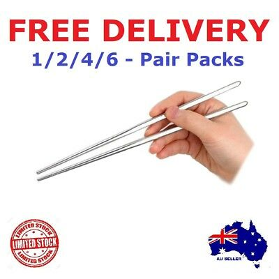 Stainless Steel Chopsticks Set Authentic Korean Japanese Metal Table Cutlery