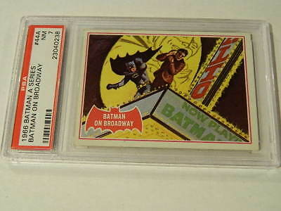 "1966 Topps BATMAN (A Series) Red Bat #44A ""Batman On Broadway"" - PSA 7 NM - Rare"