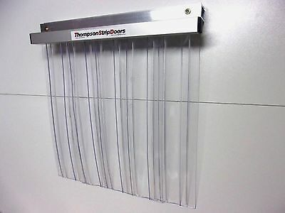 COOL ROOM STRIP - PVC STRIP CURTAIN DOOR -Ribbed H/Duty 850mm x 2150mm