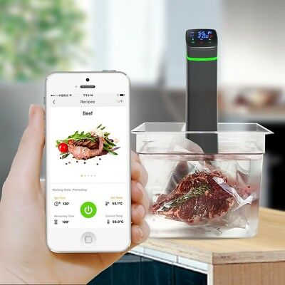 Wi-Fi Sous Vide Immersion Heater Circulation Slow Cooker Temperature Cooking Au