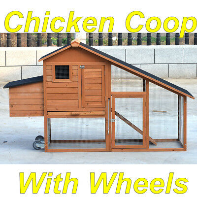 LARGE Chicken Coop with Run, Rabbit Hutch Guinea Pig Cage Ferret House