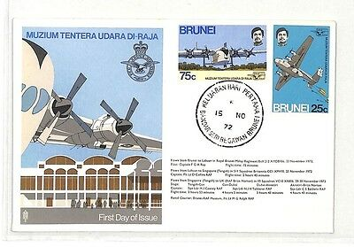 BK136 1972 FDI Brunei Flight Commemorative Cover {samwells}PTS