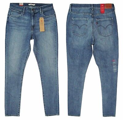 Genuine Levis 721 Original Women Ladies High Rise Skinny Jeans Meant To Be Blue