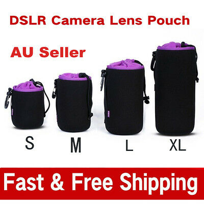 Waterproof Neoprene DSLR Camera Lens Soft Protector Pouch Case Bag  AU