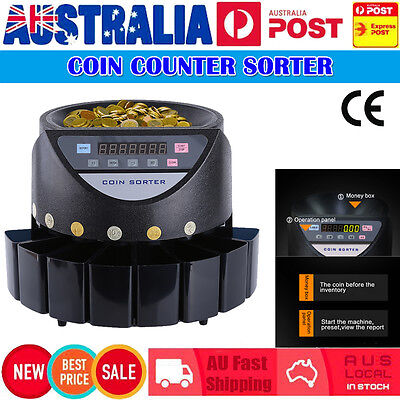 Australian Coin Counter Money Sorter Automatic Counting Sorting Machine Digital