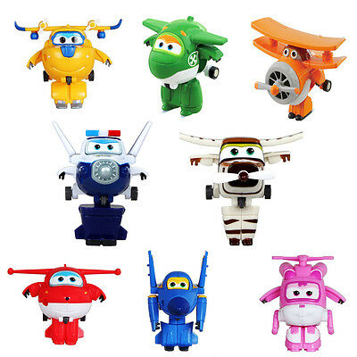 Animation Super Wings Transformable Airplane Robot Mini Action Figures Kids Toy