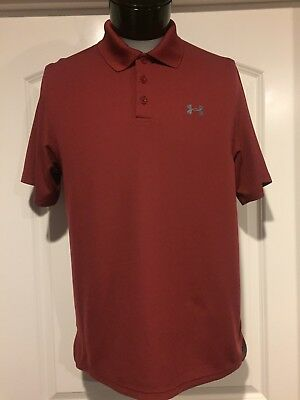 Men's Under Armour S/S Performance Loose Heatgear Polo Shirt - Size M
