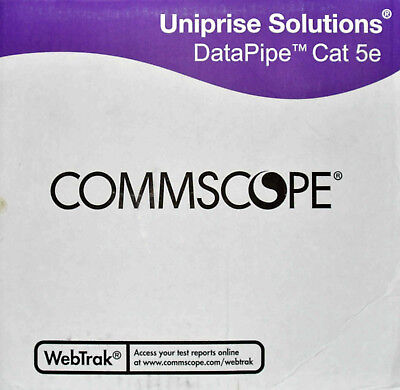 Commscope Plenum Cat5e U/UTP Network Cable, sold in 10' increments, MADE IN USA