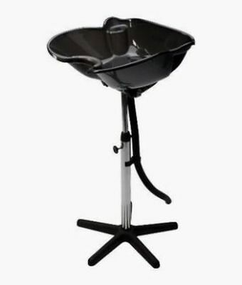 SIBEL Hairdressers Barbers Portable Mobile Tilting BACKWASH Basin BLACK