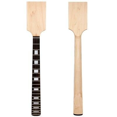 Right Lefty Paddle Electric Guitar Neck Maple Rosewood Block Inlay Unfinished