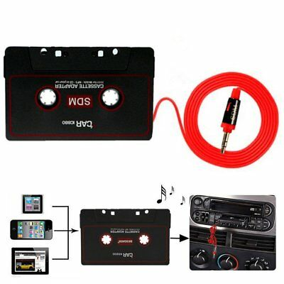 Audio AUX Car Cassette Tape Adapter Converter 3.5MM For iPhone MP3 Android
