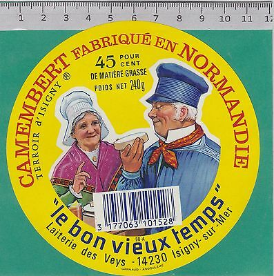 J139  Fromage Camembert 240 Gr. Les Veys Manche Isigny Sur Mer Calvados Code