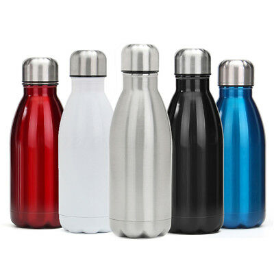 Water Flask Stainless Steel Double Wall Vacuum Insulated Bottle Sport 350-750ML