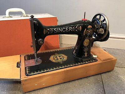 ELEGANT Singer 66K Lotus Sewing Machine Antique/Vintage HEAVY DUTY 1945