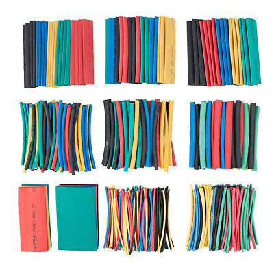 IT- 410Pcs 10 Sizes 1-30mm Colorful Heat Shrink Sleeving Tube Assortment Kit Rak