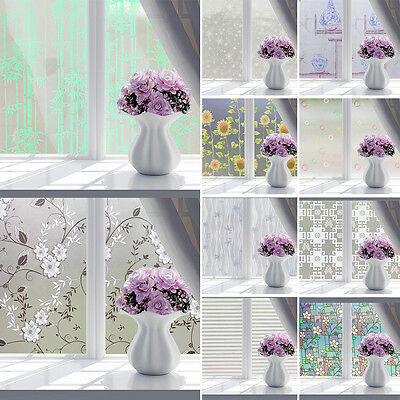 IT- Bathroom Butterfly Bubble Flower Frosted Window Film Decorative Privacy Stic