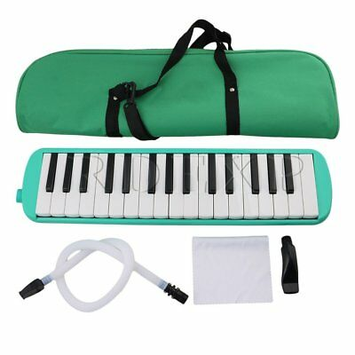 41x10x4cm 32 Piano Keys Melodica Harmonica with Green Carrying Bag
