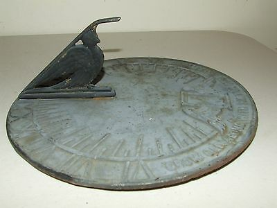 "Vintage Virginia Metalcrafters Metal Garden Sun Dial No. 23-1 10 1/2"" Made USA"