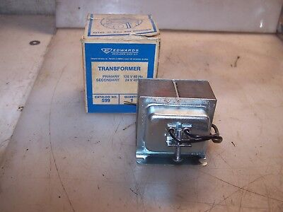 New Edwards 599 Transformer 120 Vac Hv  24 Vac Lv