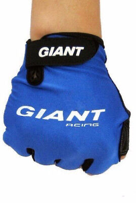 Giant Cycling Gloves Bicycle Bike Half Finger Gloves Red Blue Black EXPRESS POST