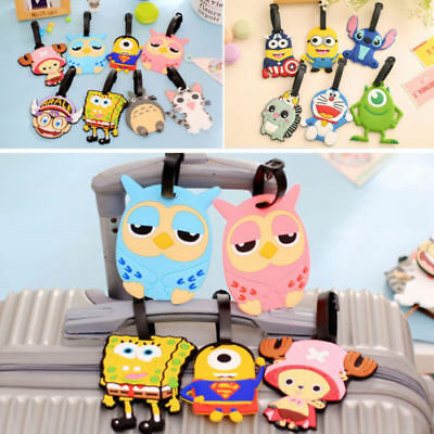 2017 new Styles Cartoon Silicone Travel Suitcase Baggage Luggage Tags