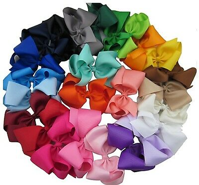 """USA LARGE 4"""" Hair Bow with Clip UPICK Cheer Big Girls Quality Bows Cheerleading"""