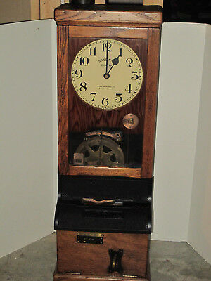Antique English National Electric Time Clock