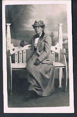Matt Rp Studio Postcard An Older Smartly Dressed Edwardian Lady C1910