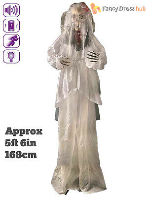 175cm Animated Corpse Bride Halloween Prop Movement Sound Party Decoration
