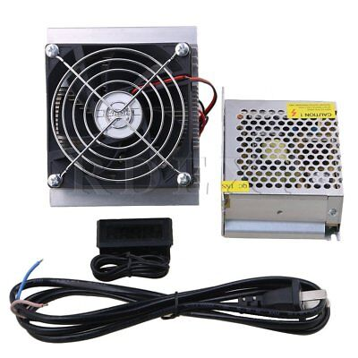 Refrigeration Semiconductor Cooler Fan Kit W/Thermometer&Power Supply