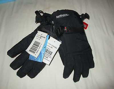 Hotfingers Alpine Dry Youth Boys Black Gloves Size L 9 10  New Retail $24.99