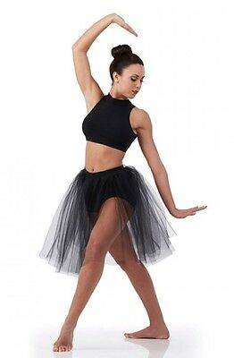 Visions Dance Costume BLACK Top and Skirted Shorts Ballet Lyrical Contemporary