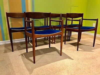 Mid Century Modern Rosewood Dining Chairs By Bramin Of Denmark