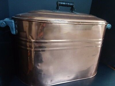 Beautiful, Vintage, Totally Restored & Polished Copper Boiler W. Lid