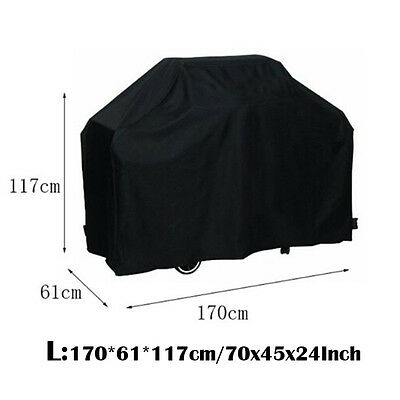 New BBQ Grill Cover Outdoor Yard Garden Gas Barbecue Waterproof Protector Black