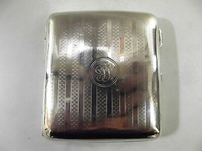 Antique Silver Cigarette Case Birmingham 1942 Ref 298/11