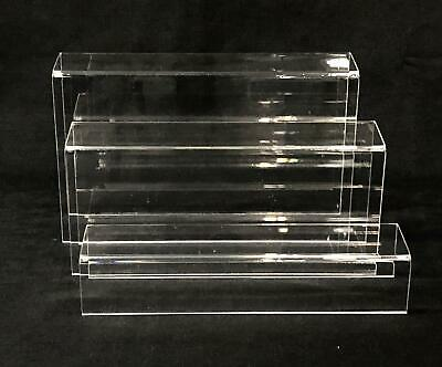 Set of 3 Clear Acrylic Step Riser for Counter Top Display 1107